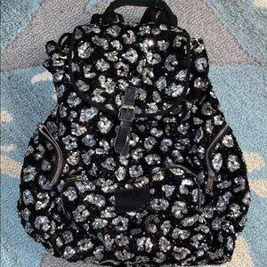 Black & Silver Cheetah Sequin PINK backpack
